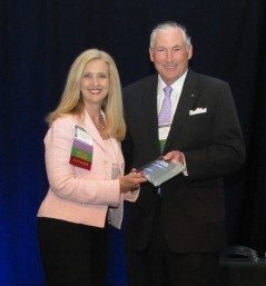 Janet Ward Black was formally presented with her award by attorney Mike Wells at the NCBA Annual Meeting.