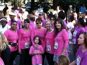 The Ward Black Law team at the 2012 Women's Only 5K Walk & Run.