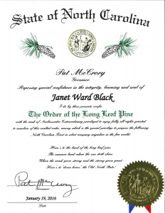 JWB Order of the Long Leaf Pine Award